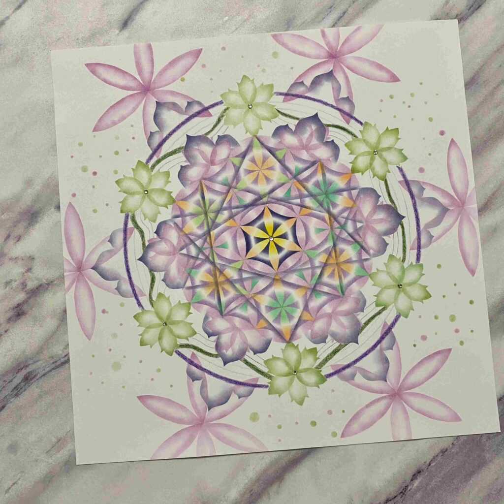 【粉彩】平衡內在生命之花作品分享